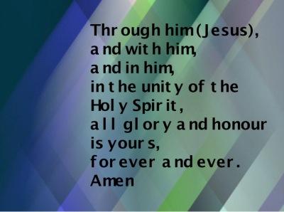 Through him